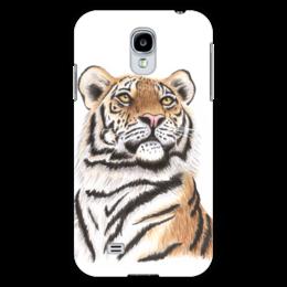 """Чехол для Samsung Galaxy S4 """"Взгляд тигра"""" - хищник, животные, взгляд, тигр, зверь"""