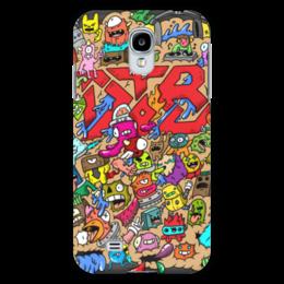 """Чехол для Samsung Galaxy S4 """"Doodle: Drop the bass line"""" - монстры, doodle, каракули, dtb"""