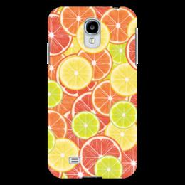 """Чехол для Samsung Galaxy S4 """"Цитрусы"""" - апельсин, лайм, лимон, грейпфрут, дольки"""