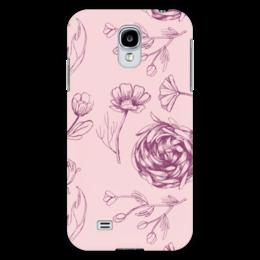 "Чехол для Samsung Galaxy S4 ""Осенний сад "" - цветы, pink, паттерн, осенний сад"
