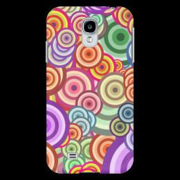 """Чехол для Samsung Galaxy S4 """"Цветные круги"""" - узор, стиль, рисунок, абстракция, круги"""