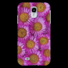 "Чехол для Samsung Galaxy S4 ""Астры"" - цветы, желтый, розовый, лепесток, астры"