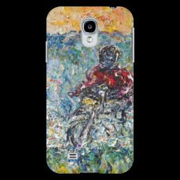 """Чехол для Samsung Galaxy S4 """"Скорость"""" - искусство, байк, гонщик, скорость, speed, biker, bike"""