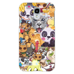 """Чехол для Samsung Galaxy S4 """"стикерs"""" - авторское, вк, стикеры"""