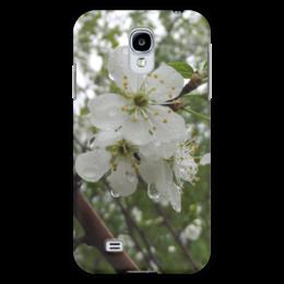 """Чехол для Samsung Galaxy S4 """"яблоня после дождя"""" - цветок, apple, flower, rain"""