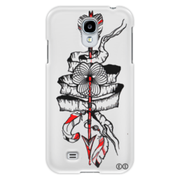 "Чехол для Samsung Galaxy S4 ""стрела "" - спираль, графика, перо, лайнарт, tm kiseleva, arrow, feather"