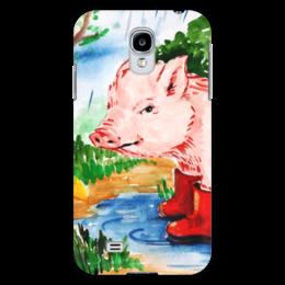 """Чехол для Samsung Galaxy S4 """"Маленькая свинка"""" - ручная работа, детский рисунок, от детей, детская работа"""