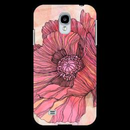 """Чехол для Samsung Galaxy S4 """"Графика - мак"""" - арт, лето, цветы, весна, графика, винтаж, авторский дизайн, flower, poppy"""