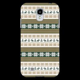 "Чехол для Samsung Galaxy S4 ""Скандинавский узор"" - узор, зима, орнамент, олень, снежинка"
