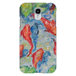 """Чехол для Samsung Galaxy S4 """"Золотые рыбки"""" - незабываемый подарок любимой, сделать недорогой подарок, что подарить девушке, красивая картина на телефоне, модный подарок"""