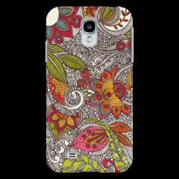 "Чехол для Samsung Galaxy S4 ""Хохлома"" - цветы, узоры, природа, хохлома"