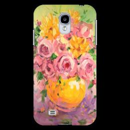 """Чехол для Samsung Galaxy S4 """"Яркие цветы"""" - любовь, арт, цветы, в подарок, букет"""