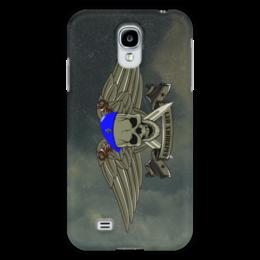 """Чехол для Samsung Galaxy S4 """"ВДВ !!!"""" - армия, нож, вдв, десант, голубой берет"""