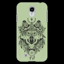 """Чехол для Samsung Galaxy S4 """"Тотем. Волк"""" - графика, волк, тотем"""