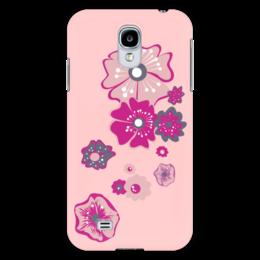 """Чехол для Samsung Galaxy S4 """"Цветы"""" - цветок, розовый, несколько"""