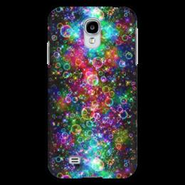 """Чехол для Samsung Galaxy S4 """"Психоделика"""" - психоделика, пузырьки, цвет, абстракция"""