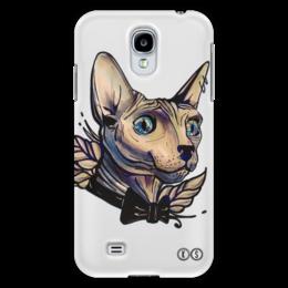 "Чехол для Samsung Galaxy S4 ""Mr. Cox s4"" - кот, бабочка, сфинкс, tm kiseleva"