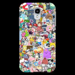 "Чехол для Samsung Galaxy S4 ""STICKERS"" - арт, дизайн, мульт, фэн-арт, аниме"