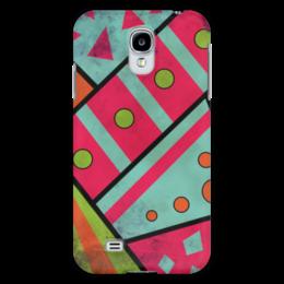 """Чехол для Samsung Galaxy S4 """"Яркая геометрия"""" - полосы, круги, геометрия, треугольники"""