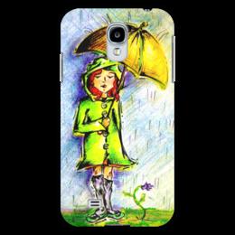 """Чехол для Samsung Galaxy S4 """"Дождик, дождик, уходи!"""" - дети, детское, ручная работа, детский рисунок, детская работа"""