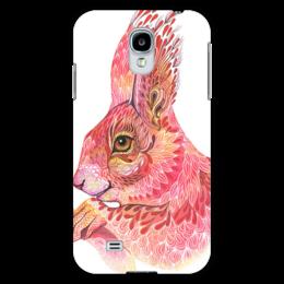 """Чехол для Samsung Galaxy S4 """"Кролик из Зазеркалья"""" - красный, искусство, кролик, роспись"""