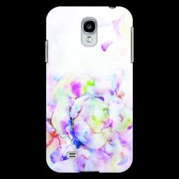 """Чехол для Samsung Galaxy S4 """"Распускающаяся роза"""" - роза, нежность, акварель, розы, бутон"""