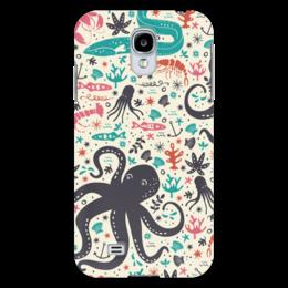"""Чехол для Samsung Galaxy S4 """"Морской Патруль"""" - море, рыбы, осьминог, океан"""