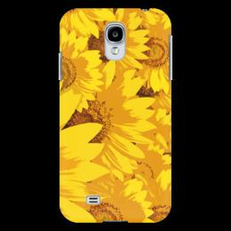 "Чехол для Samsung Galaxy S4 """"Подсолнухи"""" - лето, цветы, summer, солнце, sun, желтый, yellow, подсолнух, samsung, sunflowers"