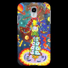 """Чехол для Samsung Galaxy S4 """"Космический арт"""" - ручная работа, детский рисунок, от детей, детская работа"""