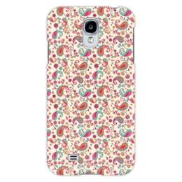 """Чехол для Samsung Galaxy S4 """"Пейсли (Яркий)"""" - цветок, цветы, лепесток, пейсли, узор"""