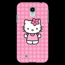 "Чехол для Samsung Galaxy S4 ""Kitty в горошек"" - мультик, hello kitty, мультфильм, для детей, привет китти"