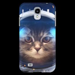 """Чехол для Samsung Galaxy S4 """"Котосмонавт"""" - кот, космос, животное, костюм"""