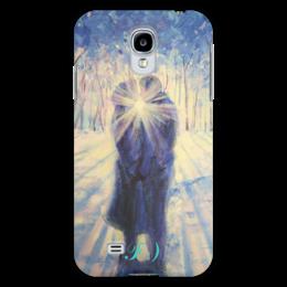 "Чехол для Samsung Galaxy S4 ""Рассвет любви"" - любовь, арт, рисунок, kiss, поцелуй, valentine's day"