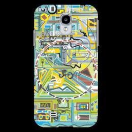 "Чехол для Samsung Galaxy S4 ""Березка"" - арт, абстракция, фигуры, бирюзовый"