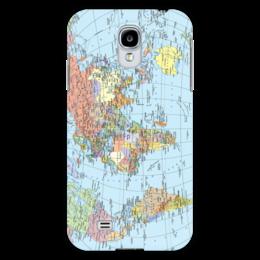 """Чехол для Samsung Galaxy S4 """"Карта мира"""" - мир, страны, карта, политика, география"""