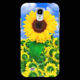 "Чехол для Samsung Galaxy S4 ""Подсолнух"" - лето, цветок, небо, облака, подсолнух"