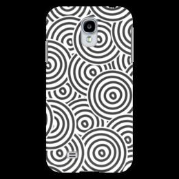 """Чехол для Samsung Galaxy S4 """"Радиальный"""" - узор, орнамент, стильный, круги, кольца"""