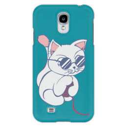 "Чехол для Samsung Galaxy S4 ""Котенок с клубком"" - кот, кошка, котенок, очки, клубок"