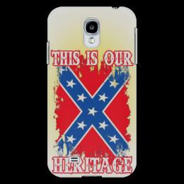"Чехол для Samsung Galaxy S4 ""Флаг Конфедерации США"" - война, америка, флаг, сша, флаг конфедерации"