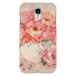 """Чехол для Samsung Galaxy S4 """"Нежный поцелуй роз"""" - арт, девушка, женская, рисунок, pink, нежность, roses"""