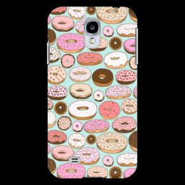 """Чехол для Samsung Galaxy S4 """"Пончики"""" - еда, пончик, donuts, фон, сладость"""