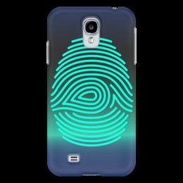 """Чехол для Samsung Galaxy S4 """"Отпечаток пальца"""" - узор, рисунок, палец, стильный, отпечаток"""