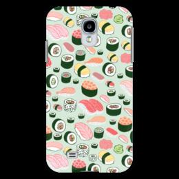 "Чехол для Samsung Galaxy S4 ""Я Люблю Суши!"" - еда, суши, sushi, я люблю суши"