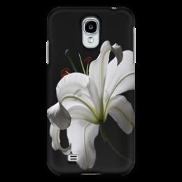"Чехол для Samsung Galaxy S4 ""лилия"" - white, цветок, flower, белая, lily"