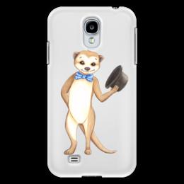 """Чехол для Samsung Galaxy S4 """"Вежливый сурикат"""" - животные, шляпа, приветствие, зверек, сурикат"""