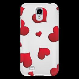 """Чехол для Samsung Galaxy S4 """"Сердечки"""" - сердце, любовь, сердечки, красное"""