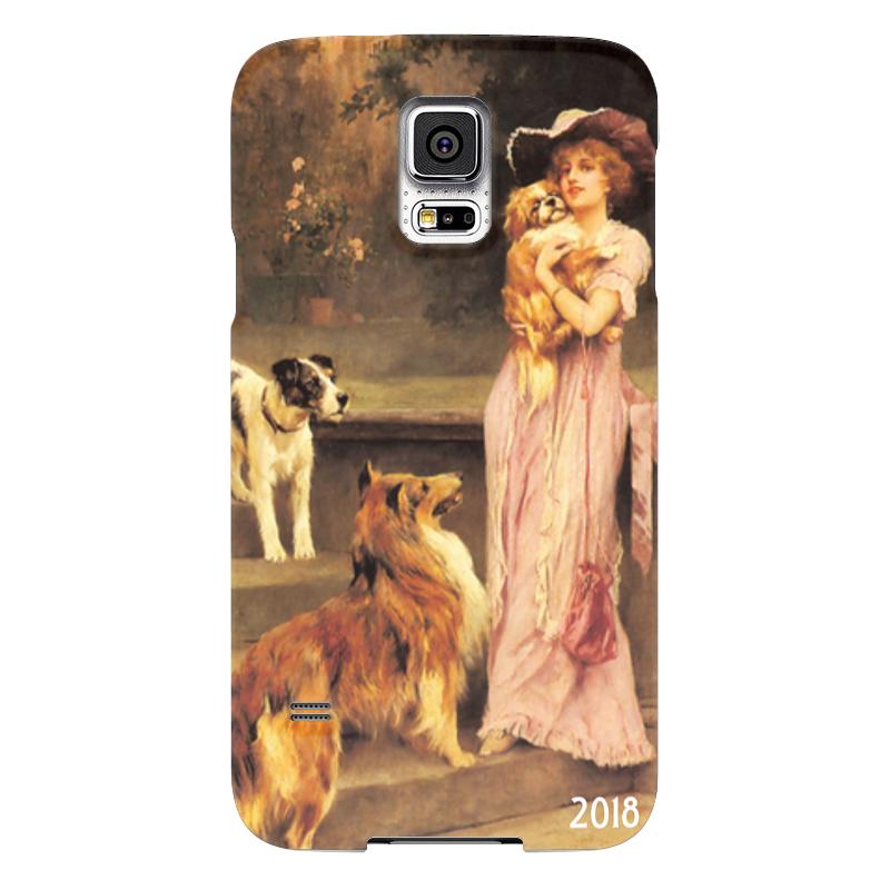 Чехол для Samsung Galaxy S5 Printio 2018 год собаки чехол для samsung galaxy s5 printio череп художник