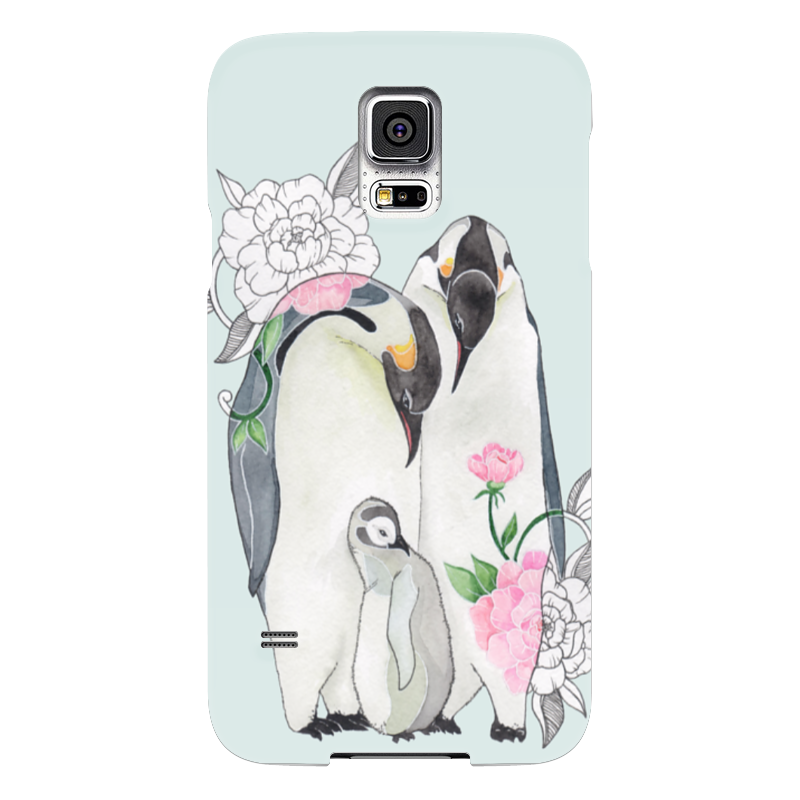 Чехол для Samsung Galaxy S5 Printio Пингвины чехол для samsung galaxy s5 printio череп художник