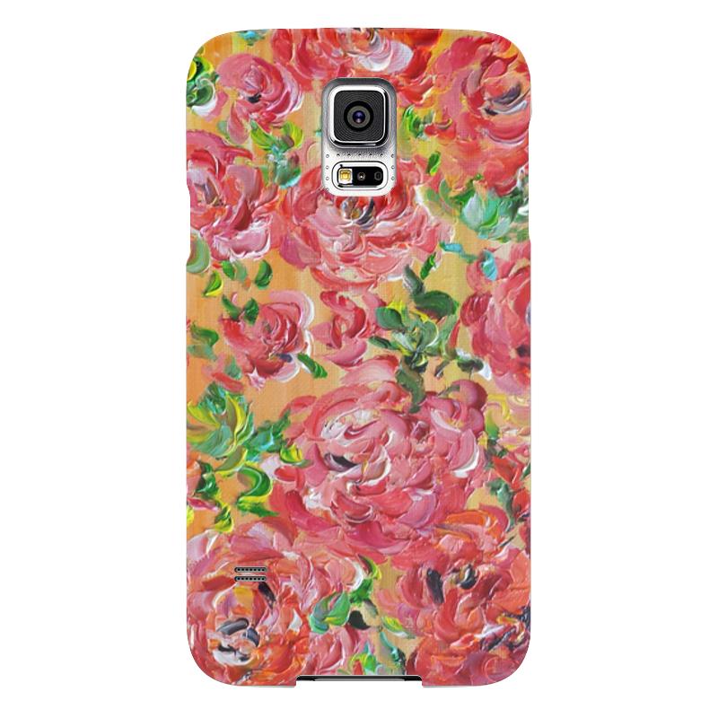 Чехол для Samsung Galaxy S5 Printio Красные розы чехол для samsung galaxy s5 printio череп художник