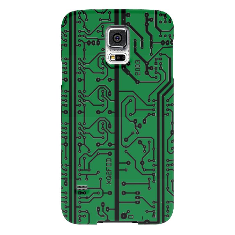 Чехол для Samsung Galaxy S5 Printio Электроника электроника в автомобиле вып 123